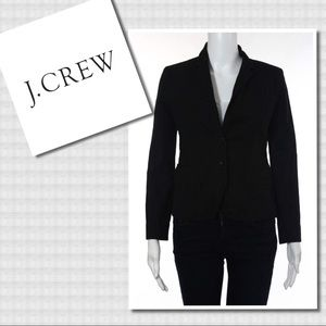 J.Crew Black LS Collared Schoolboy Blazer 2 2P